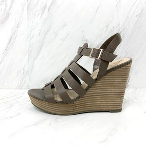 Sole Society- Lennox Wedges in Mushroom Taupe 9.5